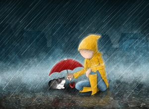 rain_can_wait___national_cat_day_2013_by_barimoor-d5v9cnc