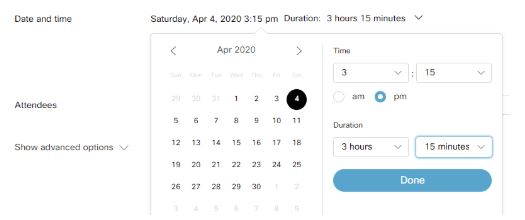 Webex-date-and-time
