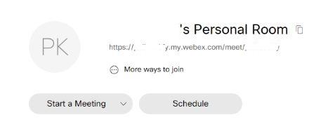 Webex-schedule