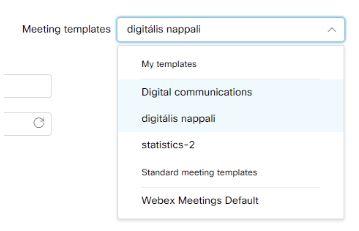 Webex-templates